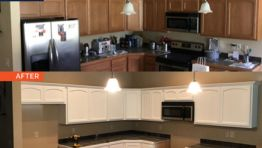 Refinish and Paint Kitchen and Bathroom Cabinets